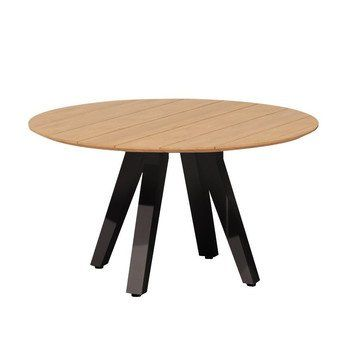 Kettal Vieques Garden Table Round O135cm Black Teak Table Top Teak H 74cm O 135cm Aluminium Frame 726 Mangane Garden Table Table Outdoor Furniture Design