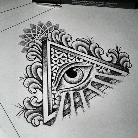 Auge bedeutung dreieck tattoo Tattoo Dreieck