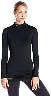 d687e62b3f167 Amazon.com : Under Armour Women's ColdGear Authentic Mock, Black ...