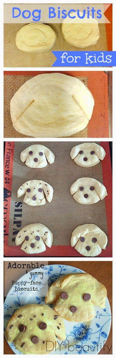 Easy {and delicious} Dog Biscuits for Kids!
