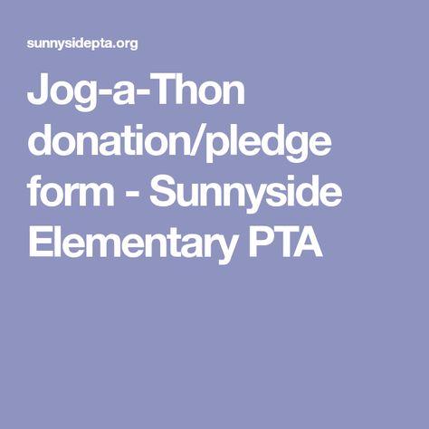Blank Sponsorship Form  Pledge Forms