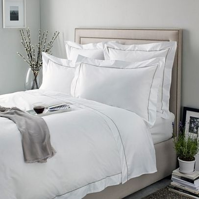 Entire Bed Set In Sk Size To Be Added To Spec Bed Linens Luxury White Linen Bedding Blue Bedding Master Bedroom