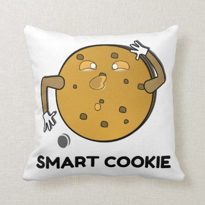 Smart Cookie Throw Pillow College Graduation Gift Idea Cyo Custom Customize Personalize Special Throw Pillows Pillows Custom Throw Pillow