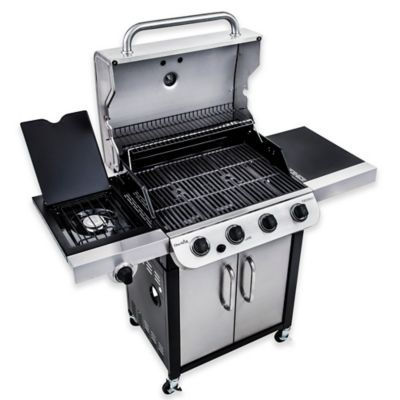 Char Broil Performance 463377017 Cabinet 475 4 Burner Gas Grill In Black Stainless Steel Gas Grill Gas Barbecue Grill Gas Bbq