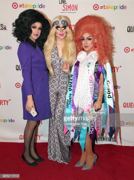 Marta Beatchu Trixie Mattel And Roz Drezfalez Attend The Queerty Diy Clothes Awards Photo