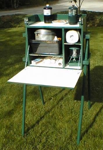 An excellent camp kitchen box or chuck box, updated design.