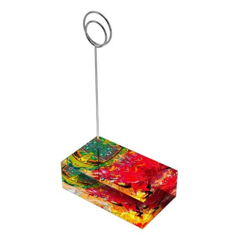 Abstract Of Cheerful Artist Palette Place Card Holder - tap, personalize, buy right now! #PlaceCardHolder #affiliatelink #painter #oil #paint #palette,
