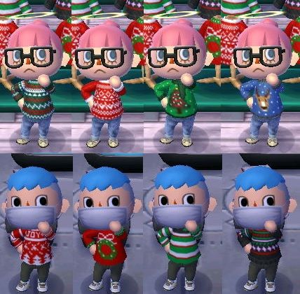 acnl ugly xmas sweaters qr codes - Imgur | ACNL | Pinterest