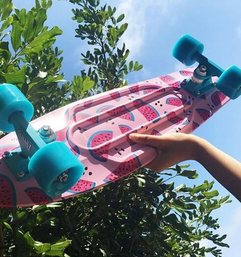 Find images and videos about girl, photography and pink on We Heart It - the app to get lost in what you love. Penny Skateboard, Skateboard Design, Skateboard Girl, Mini Skate, Skate Girl, Skate Style Girl, Cool Skateboards, Longboarding, Skateboarding