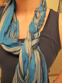 How to braid a scarf.. I love this look!