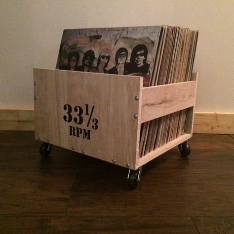 LP Crate (with Customizable Lettering)