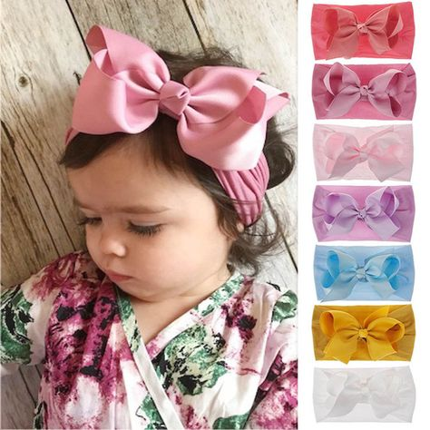 Baby Girl Toddler Flower Bowknot Headband Hair Band Headwear Hair Accessories