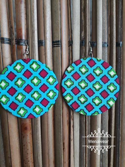 #wenaclassics #ethnicnecklaces #ankara earrings #madeincotedivoire #fashionaccessories #africanstyle