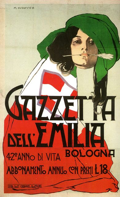 La Gazzetta Dell Emilia Marcello Dudovich Manifesto Gazzetta