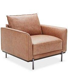 Super Jollene Leather Accent Chair Brown En 2019 Fauteuil Inzonedesignstudio Interior Chair Design Inzonedesignstudiocom