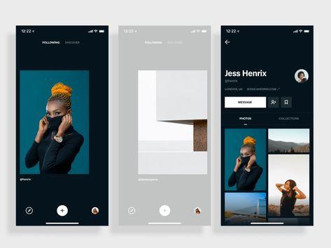 Photo App Browsing Concept Sketch Freebie