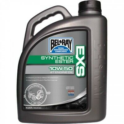 Advertisement Ebay Bel Ray Exs Full Synthetic Ester 4 Stroke Motor Oil 10w 50 4 Liter 99160 B4lw Oils Synthetic Motorcycle Parts And Accessories