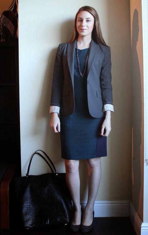 Professionally Petite: Teal Tweed & Grey