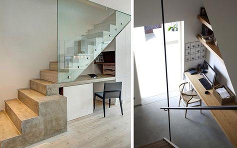 aprovechando el espacio bajo la escalera (iii): el estudio | casa ... - Diseno De Banos Pequenos Bajo La Escalera