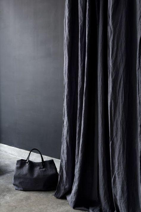 Rideau lin coloris Encre & Cabas en lin #wearelinen