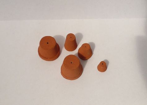 1:12 Mock Terracotta plant pots and template