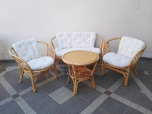 Salotti Rattan Da Esterno.Details On Natural Outdoor Rattan Living Room Garden Vimi