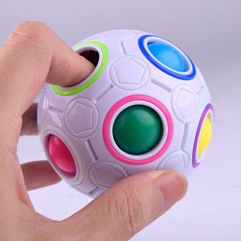 Rainbow 3D Fidget Ball - Default Title