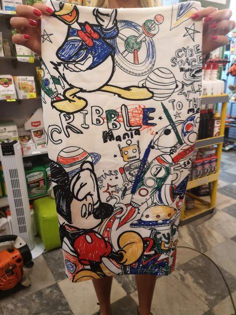 mamyka Falda de tubo con serigrafía de dibujos animados