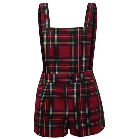 WOMENS SLEEVELESS TARTAN PLAID STRIPED DUNGAREE LADIES PLAYSUIT... ($14) ❤ liked on Polyvore featuring dresses, rompers, playsuits, shorts and jumpsuit