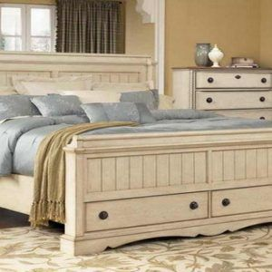 Distressed White Bedroom Furniture Sets White Washed Bedroom