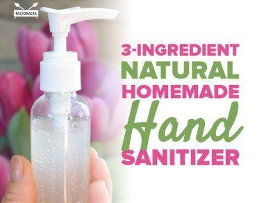 3 Ingredient Natural Homemade Hand Sanitizer Recipe Hand