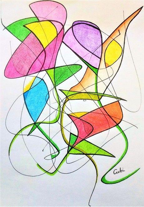 Arteterapia Para La Vida Diaria Dibujos Abstractos Para