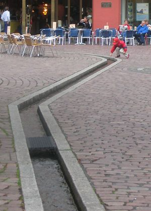 Inspirational medieval idea now Modernist Freiburg im Breisgau Called b chle tiny waterways channels diverted through the city streets Think Seville Cat u Pinteres u