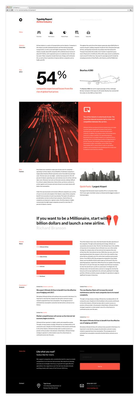 Type Report (Free HTML Template)