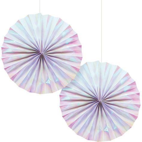 2ct Iridescent Party Paper Fans With Images Paper Fan Decorations Iridescent Party Fan Decoration