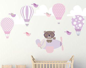 Heissluftballons Wandtattoo Ballon Szene Flugzeug Wandtattoo Wandtattoo Kinderzimmer Madchen Wand Aufkleber Kinder Zimmer Wandtattoo Kinder Baby Wandtattoo