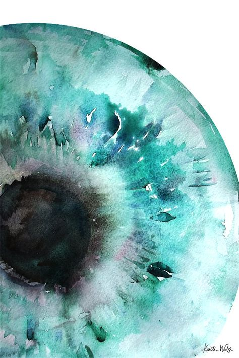 Iris Watercolor Print Abstract Eye Art Anatomy Art Optometry
