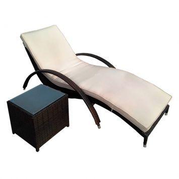 Espreguicadeira Brest Premium Com Mesa Lateral Objetos De