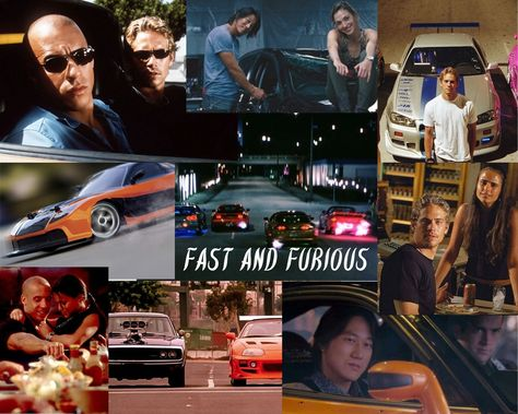 Fast and Furious Moodboard