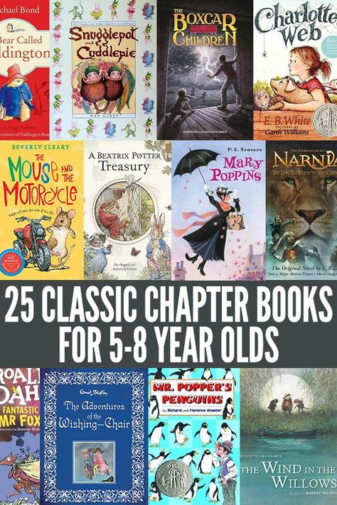 25+ Classic Chapter Books for 5-8 Year Olds: Great Read Aloud Titles
