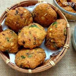 A crisp and delicious lentil cutlet from southern India  - Masala Vada