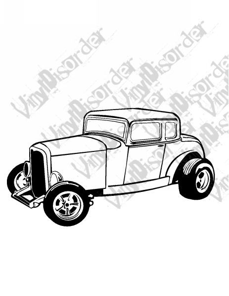 T Coupe Hot Rod American Classics Classic Cars Vinyl Decal Car - Vinyl decals for car windows
