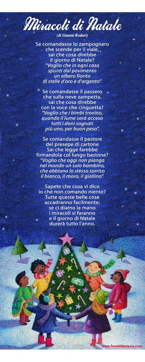 Poesie Di Natale Di Piumini.Miracoli Di Natale Gianni Rodari Poesia Natale Natale Natale