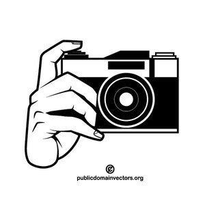 Photo Camera Monochrome Clip Art Publicdomain Vectorgraphics Freevectors Illustrator Clipart Freevecto Camera Clip Art Camera Drawing Camera Illustration