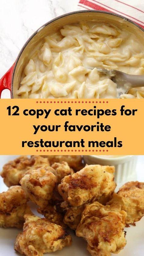 Copy cat recies for your favorite restaurant meals