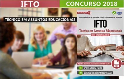 Concurso Ifto 2018 Tecnico Em Assuntos Educacionais Concursos