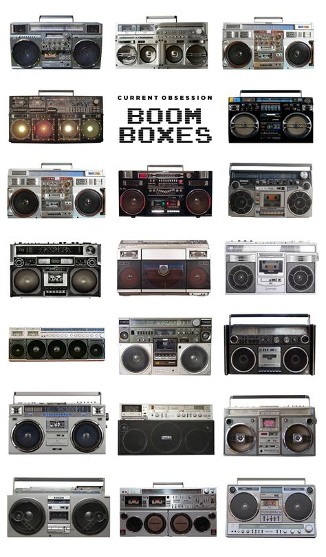 A generation of music fans are still recovering from the shoulder pain of carrying one of these guys down the block. Even though our music-delivery devices have Lps, Radios, Boombox, Transport Public, Pub Vintage, Vintage Music, Retro, Hip Hop, Hifi Audio
