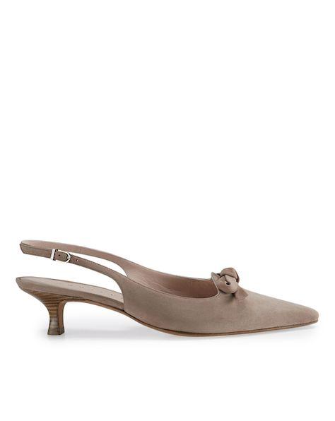 Unützer Kitten Heels mit Schleife - beige Jetzt auf kleidoo.de bestellen! #kleidoo #trends #shoes #unützer #beige #kittenheels