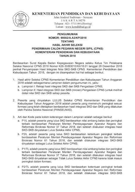 Tomata Likuang Download Hasil Akhir Seleksi Penerimaan Cpns