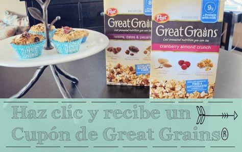 Hacer muffins con cereal es lo mas fácil y divertido del mundo. Descarga tu cupón de descuento para que hagas los tuyos https://ooh.li/6de45c0 #ad